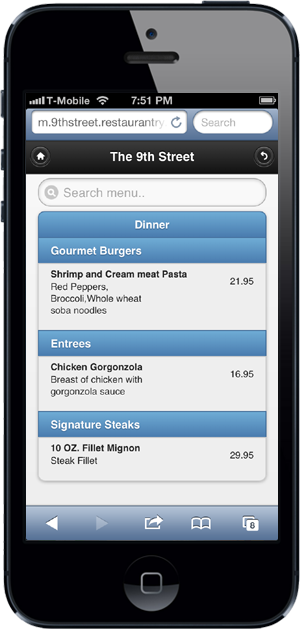 free online menu for restaurants